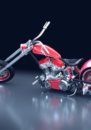 3D-Model Motorbike